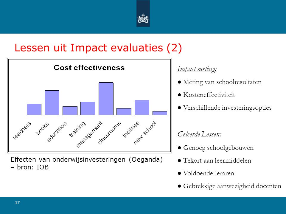 Lessen uit Impact evaluaties (2)