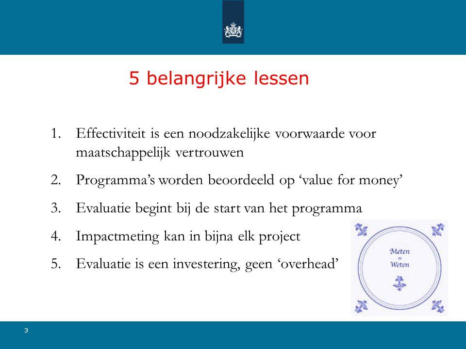 5 belangrijke lessen Effectiviteit is een noodzakelijke voorwaarde voor maatschappelijk vertrouwen.