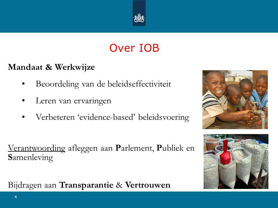 Over IOB Mandaat & Werkwijze Beoordeling van de beleidseffectiviteit