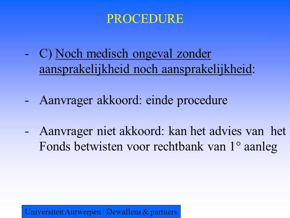 Aanvrager akkoord: einde procedure