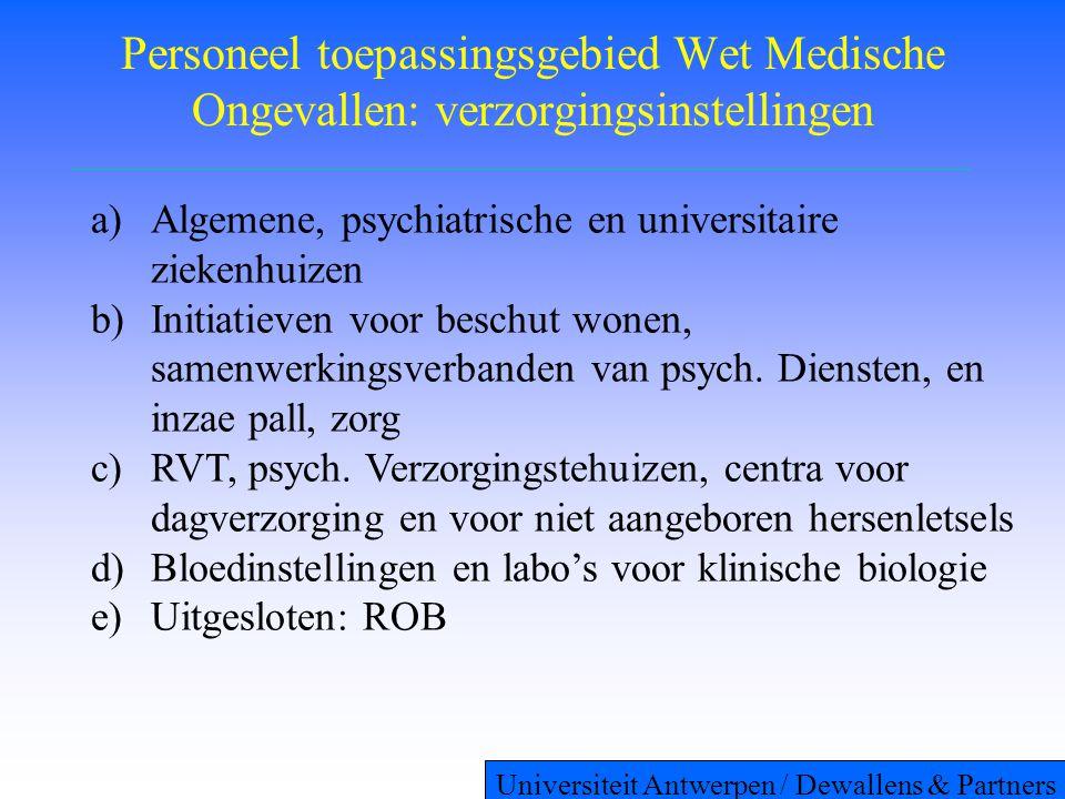 Personeel toepassingsgebied Wet Medische Ongevallen: verzorgingsinstellingen