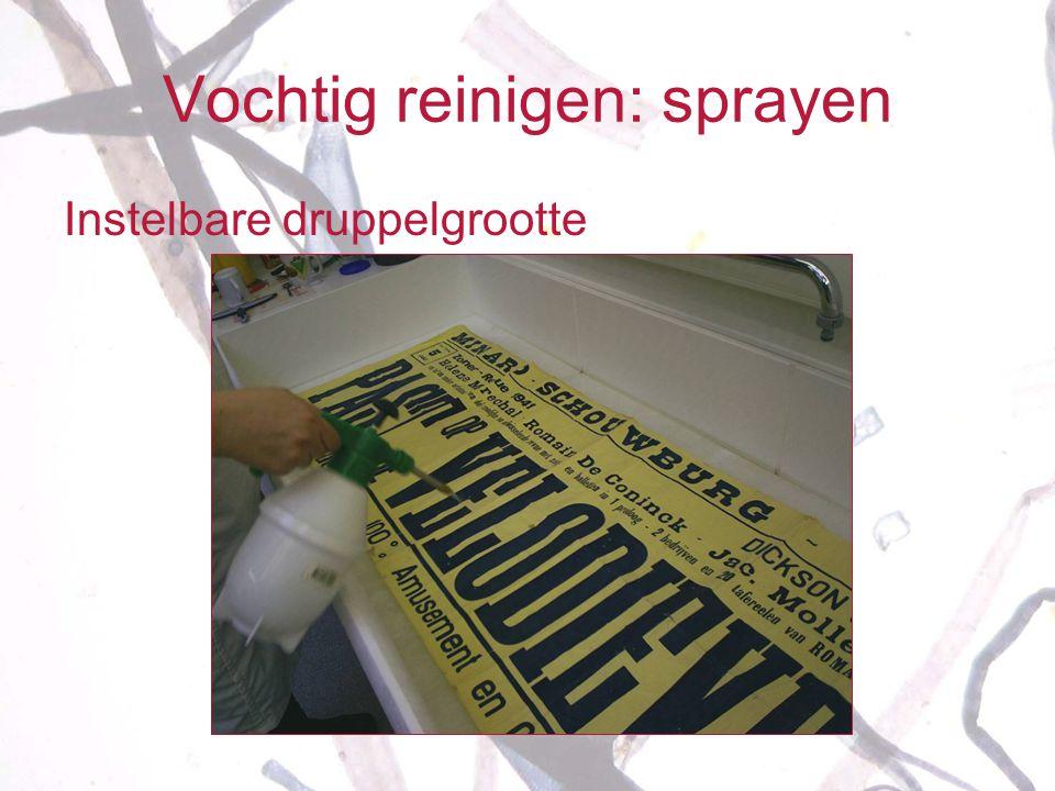 Vochtig reinigen: sprayen