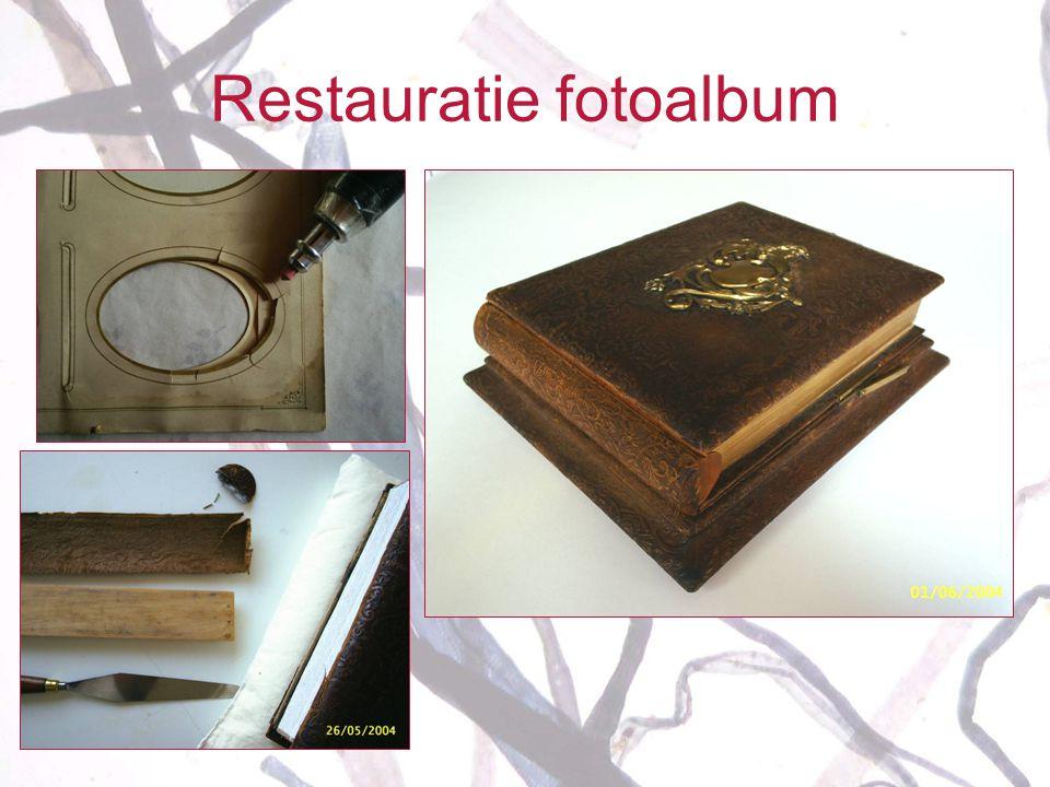 Restauratie fotoalbum