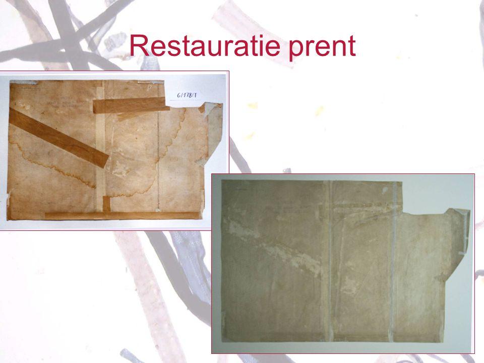 Restauratie prent