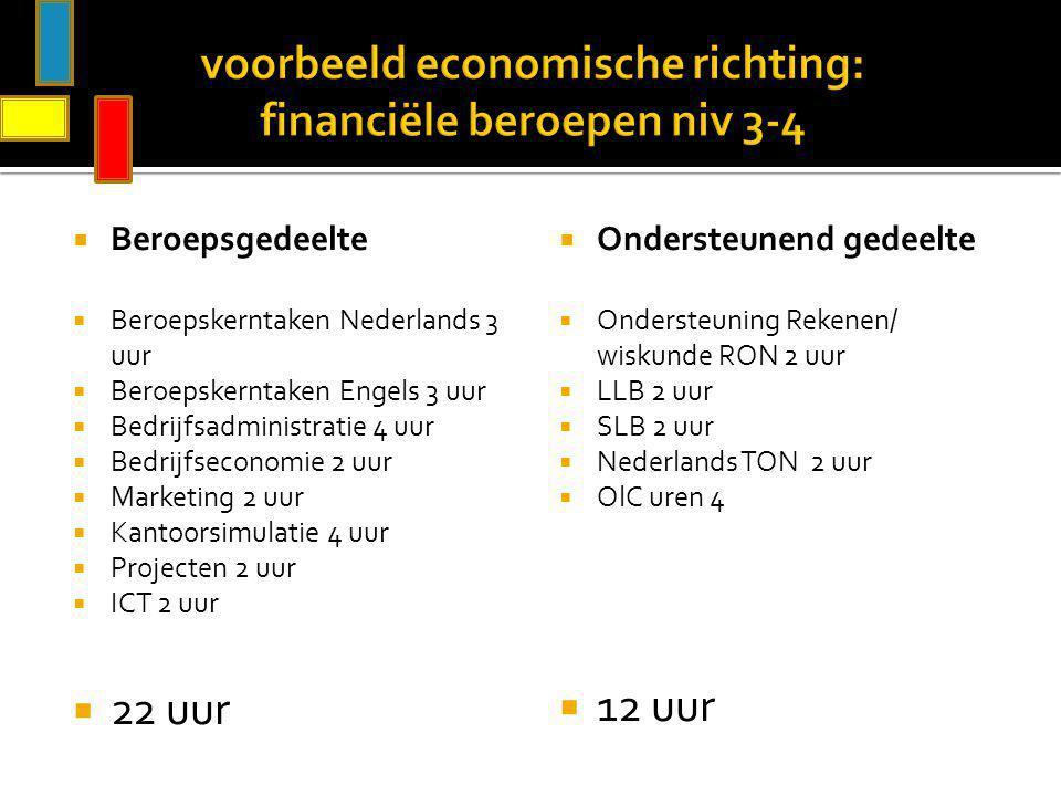 voorbeeld economische richting: financiële beroepen niv 3-4