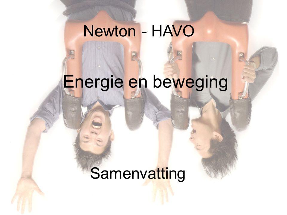 Newton - HAVO Energie en beweging Samenvatting