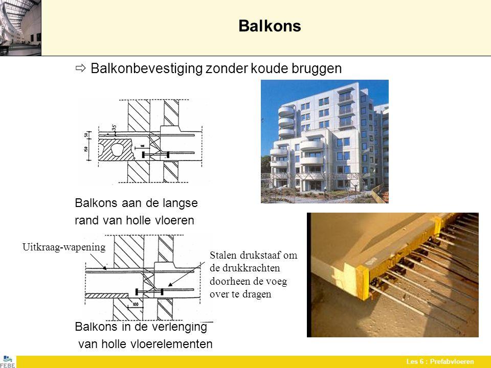 Balkons  Balkonbevestiging zonder koude bruggen Balkons aan de langse