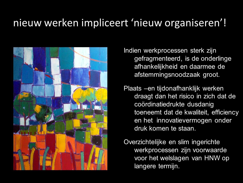 nieuw werken impliceert 'nieuw organiseren'!