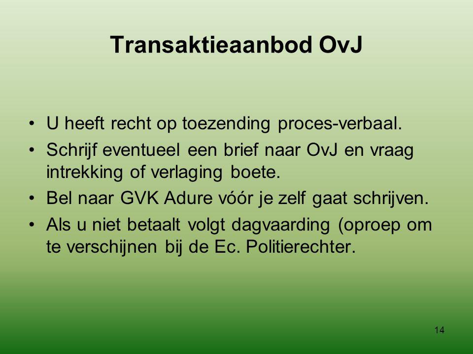 Transaktieaanbod OvJ U heeft recht op toezending proces-verbaal.
