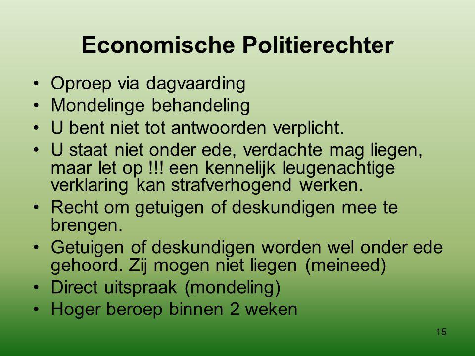 Economische Politierechter