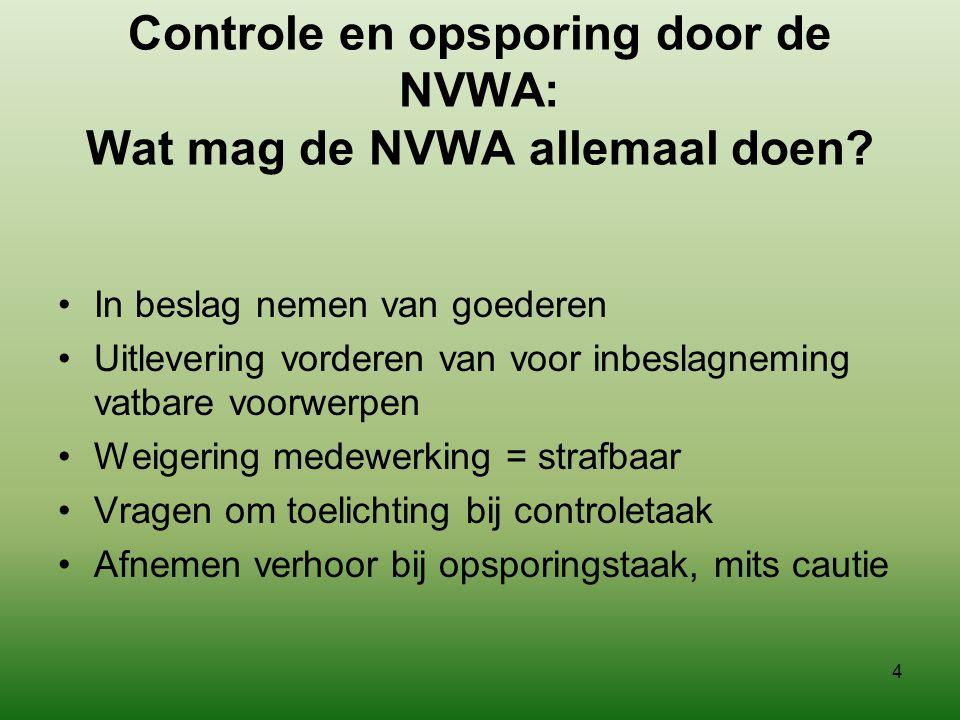 Controle en opsporing door de NVWA: Wat mag de NVWA allemaal doen