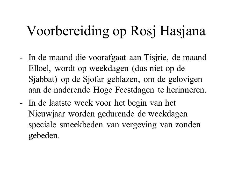 Voorbereiding op Rosj Hasjana
