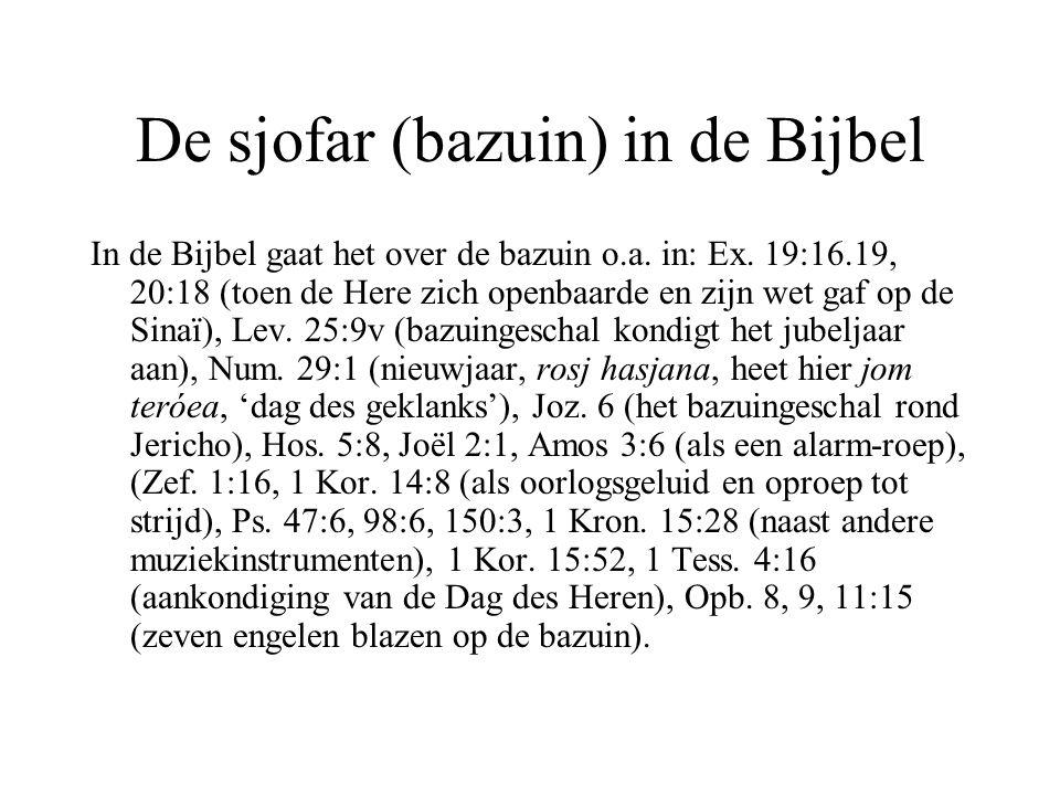 De sjofar (bazuin) in de Bijbel