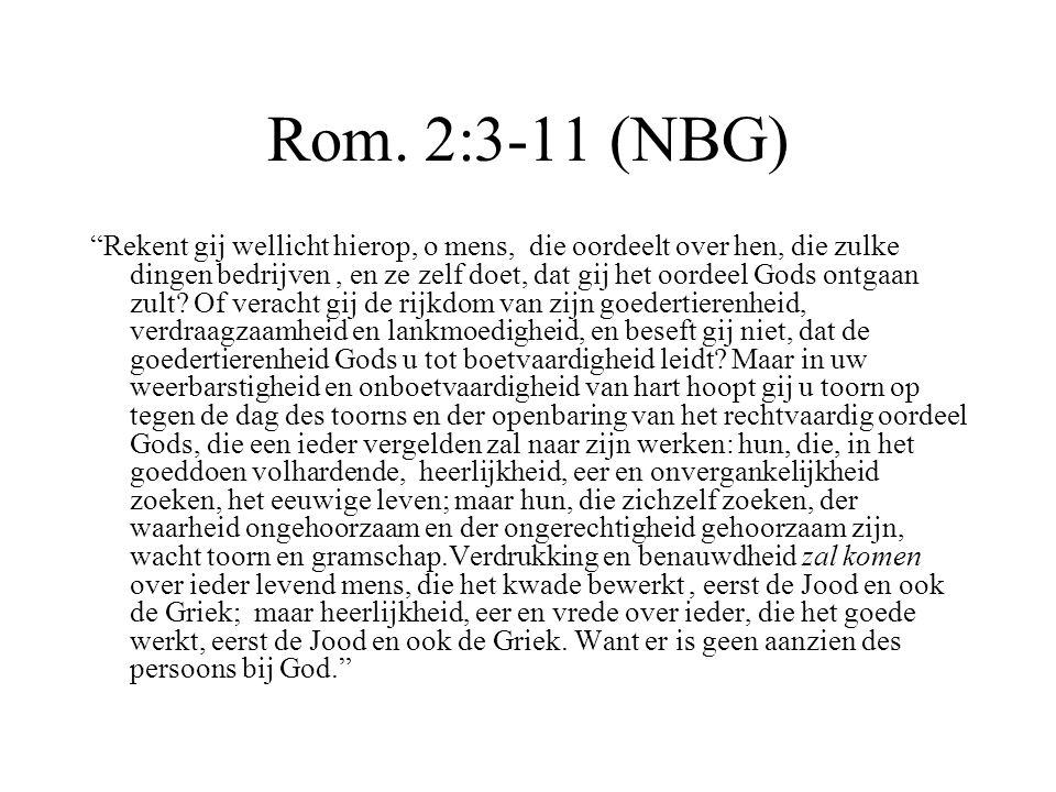 Rom. 2:3-11 (NBG)