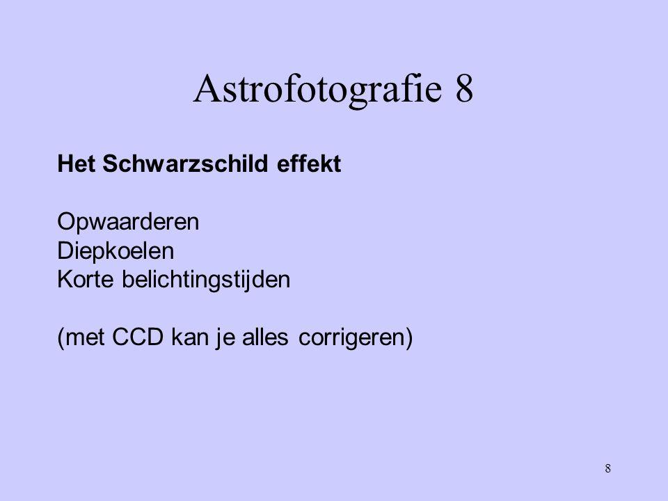 Astrofotografie 8 Het Schwarzschild effekt Opwaarderen Diepkoelen