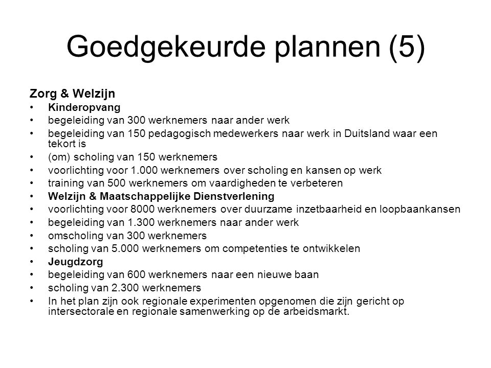 Goedgekeurde plannen (5)