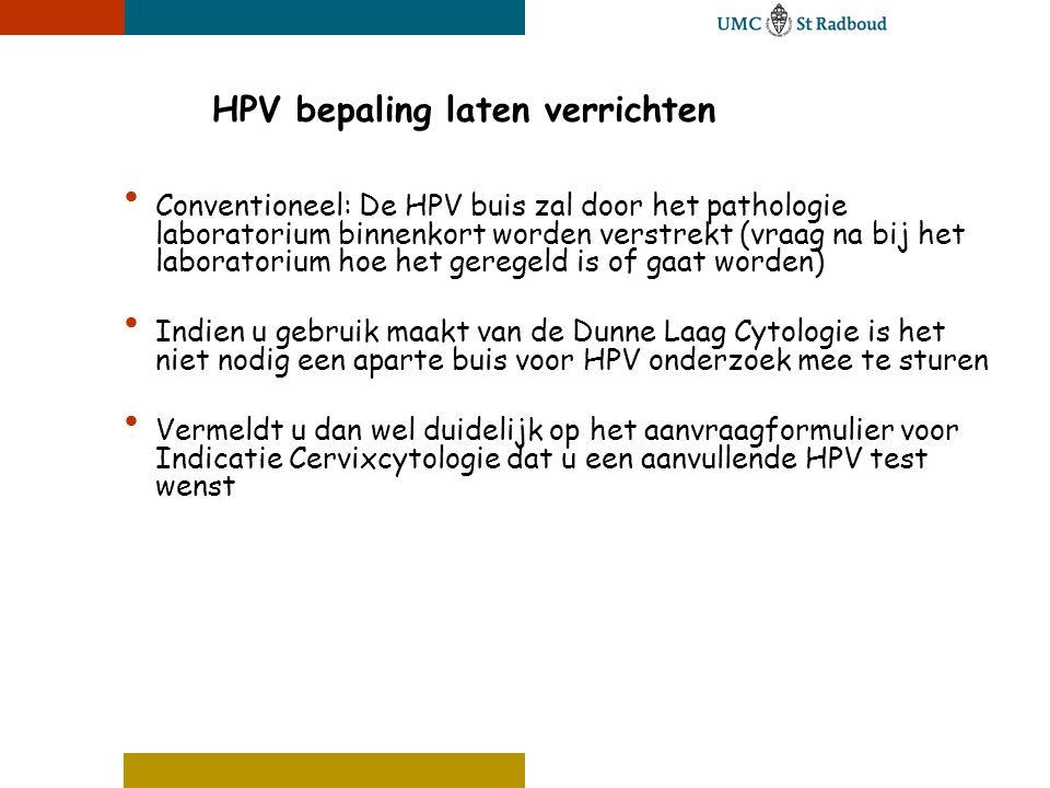 HPV bepaling laten verrichten