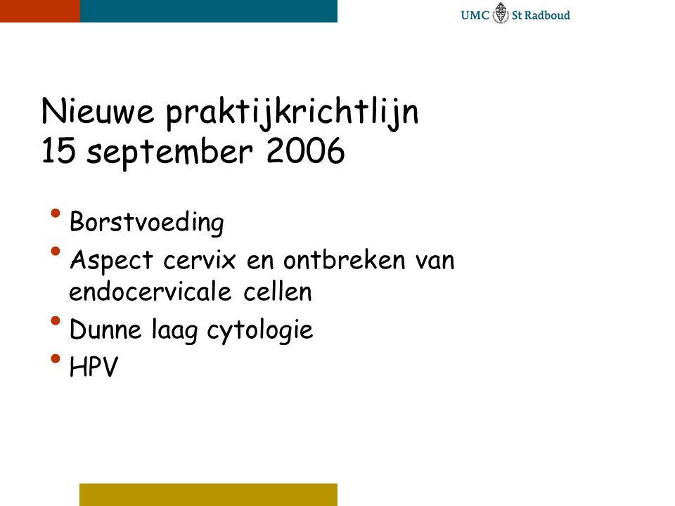 Nieuwe praktijkrichtlijn 15 september 2006