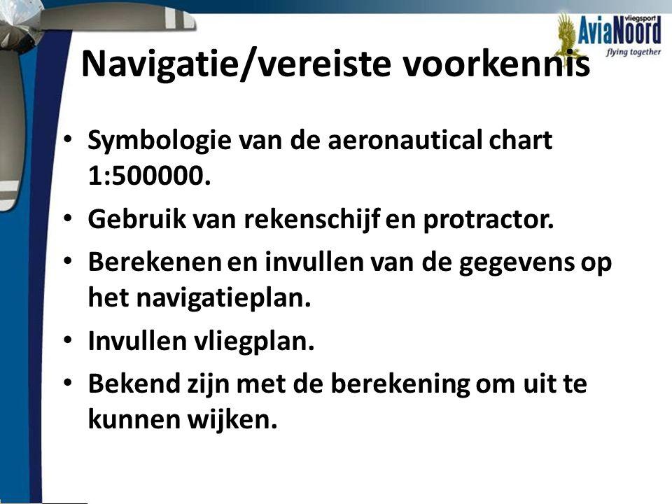 Navigatie/vereiste voorkennis