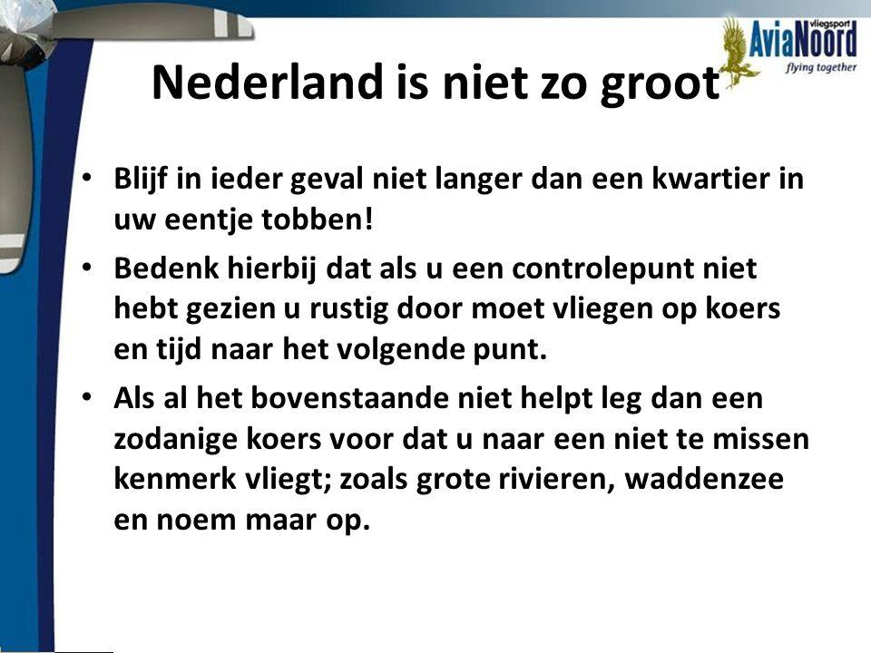 Nederland is niet zo groot