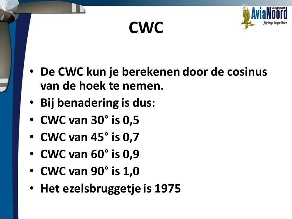 CWC De CWC kun je berekenen door de cosinus van de hoek te nemen.
