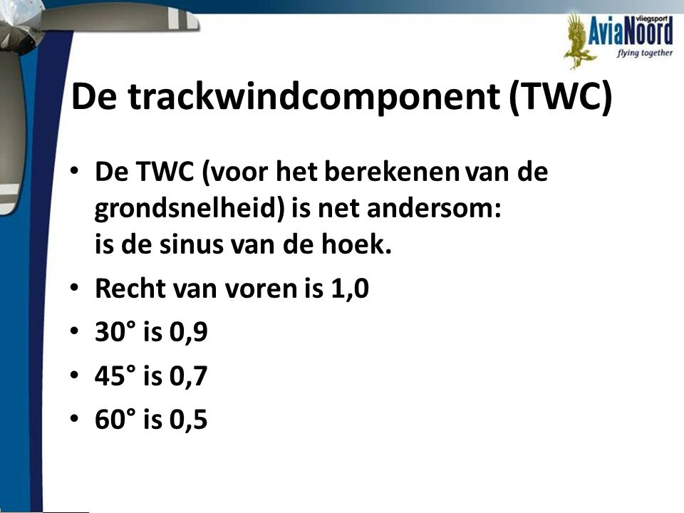 De trackwindcomponent (TWC)