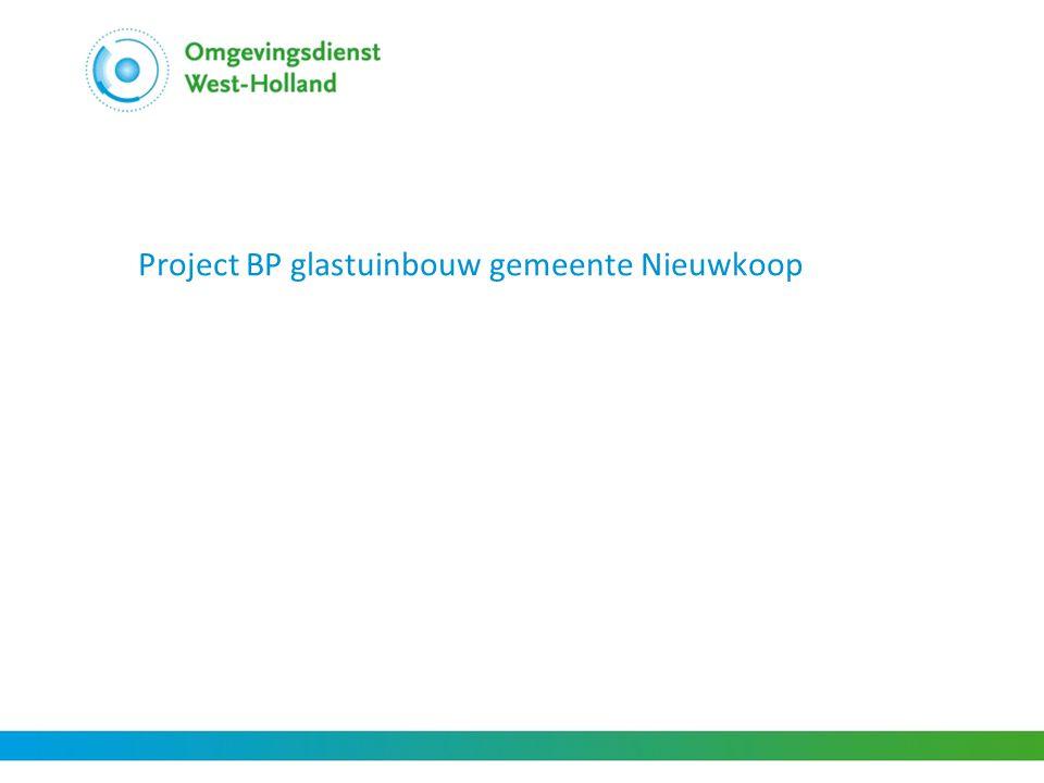 Project BP glastuinbouw gemeente Nieuwkoop