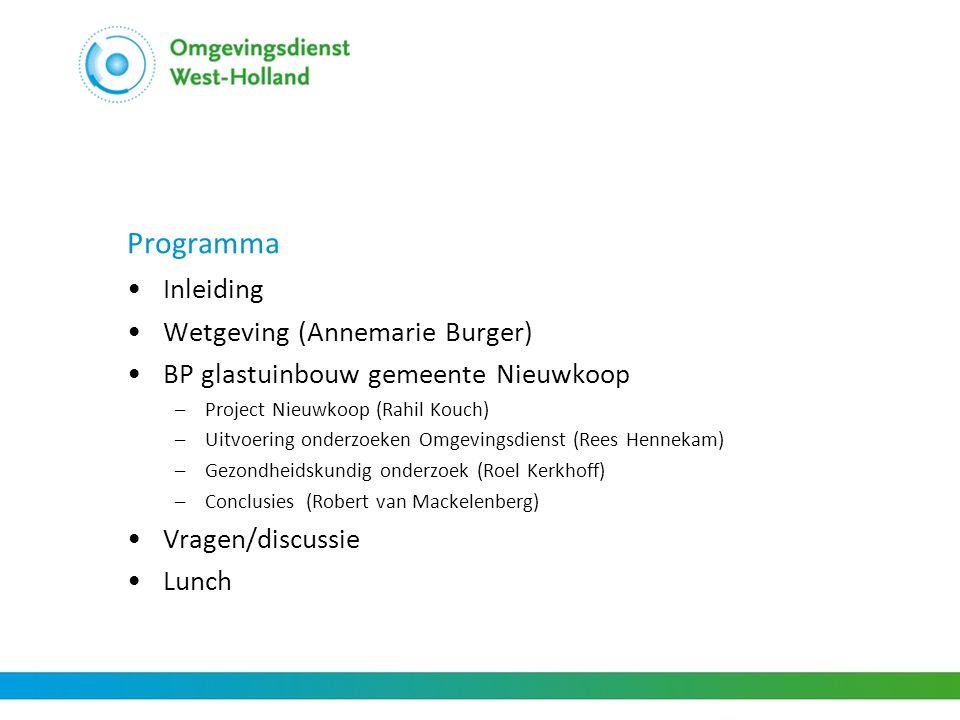 Programma Inleiding Wetgeving (Annemarie Burger)