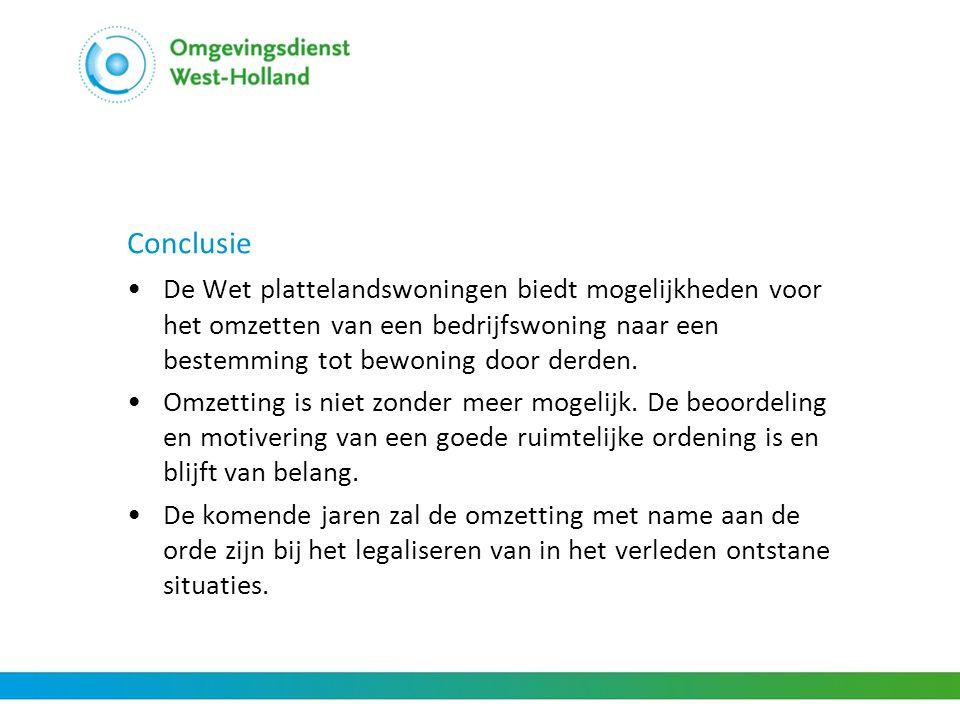 Conclusie De Wet plattelandswoningen biedt mogelijkheden voor het omzetten van een bedrijfswoning naar een bestemming tot bewoning door derden.