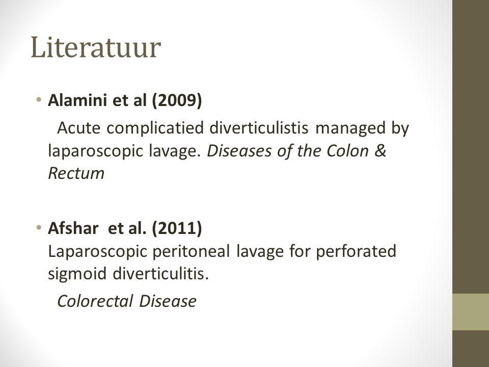 Literatuur Alamini et al (2009)