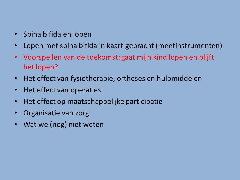Lopen met spina bifida in kaart gebracht (meetinstrumenten)