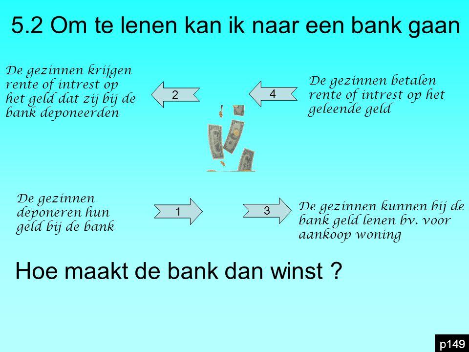 5.2 Om te lenen kan ik naar een bank gaan