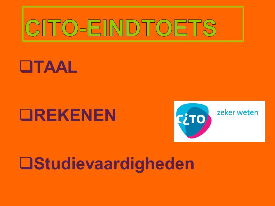 CITO-EINDTOETS TAAL REKENEN Studievaardigheden 14