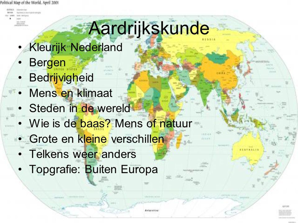 Aardrijkskunde Kleurijk Nederland Bergen Bedrijvigheid Mens en klimaat