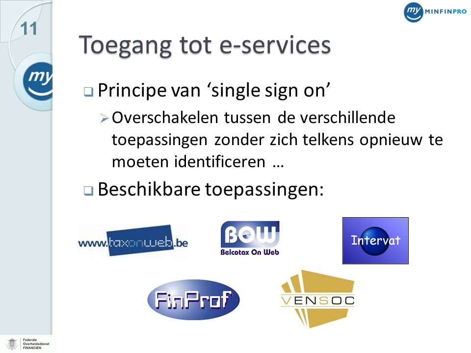 Toegang tot e-services