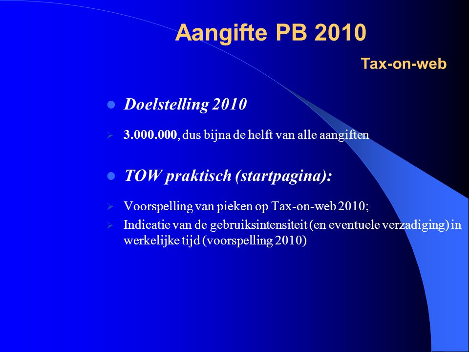 Aangifte PB 2010 Tax-on-web