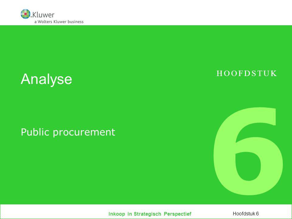 Analyse HOOFDSTUK 6 Public procurement Hoofdstuk 6