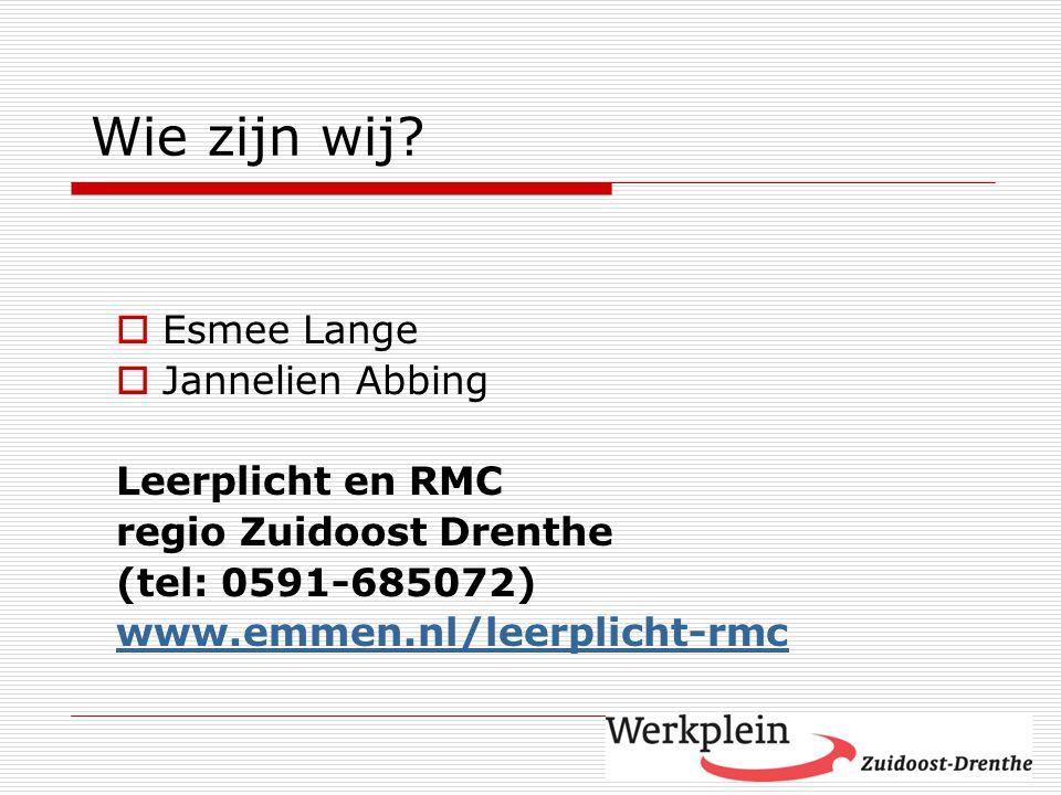 Wie zijn wij Esmee Lange Jannelien Abbing Leerplicht en RMC