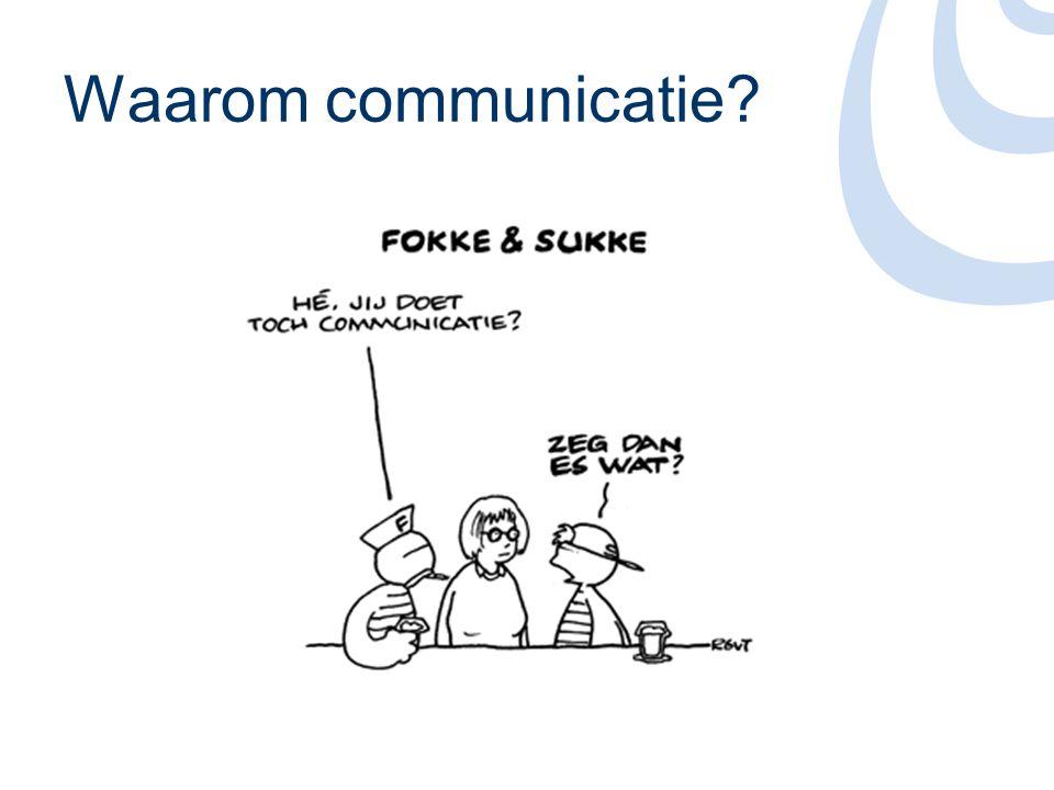 Waarom communicatie