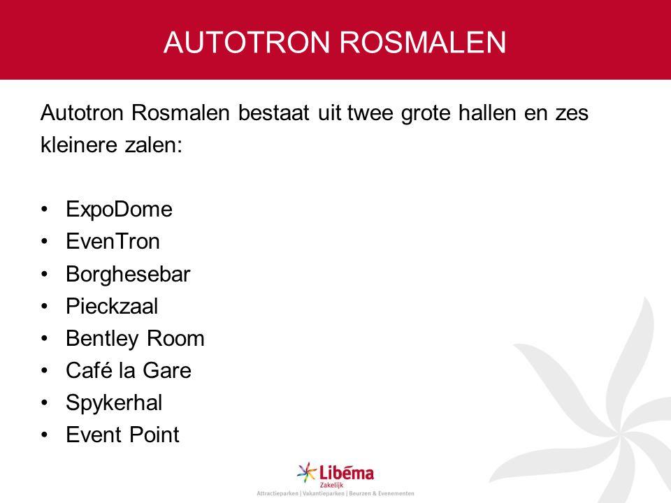 AUTOTRON ROSMALEN Autotron Rosmalen bestaat uit twee grote hallen en zes. kleinere zalen: ExpoDome.