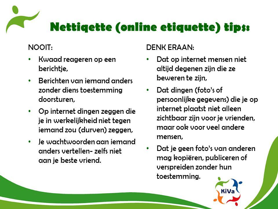 Nettiqette (online etiquette) tips:
