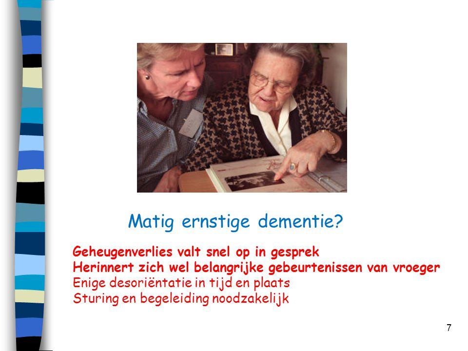 Matig ernstige dementie