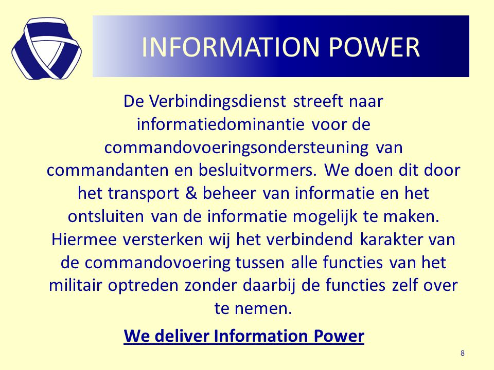 We deliver Information Power