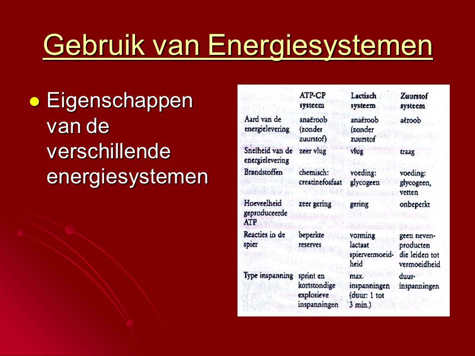 Gebruik van Energiesystemen