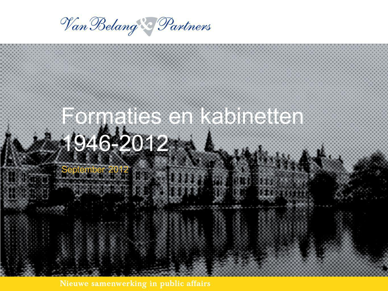Formaties en kabinetten 1946-2012