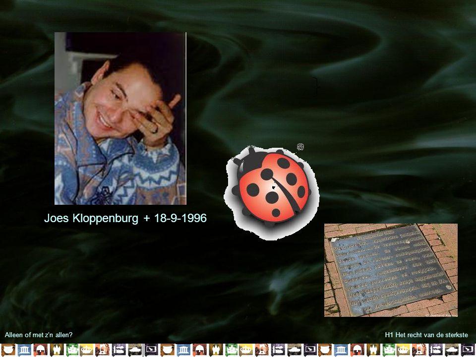 Joes Kloppenburg + 18-9-1996 Alleen of met z'n allen