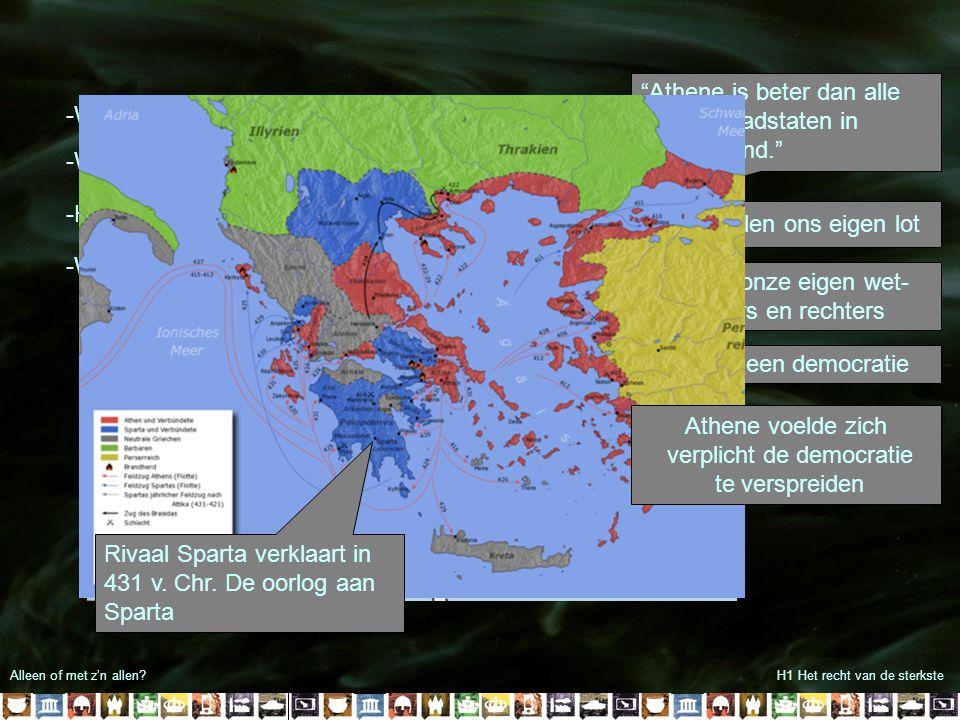 Athene is beter dan alle andere stadstaten in Griekenland.