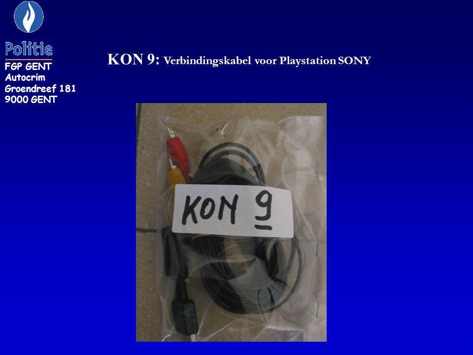 KON 9: Verbindingskabel voor Playstation SONY