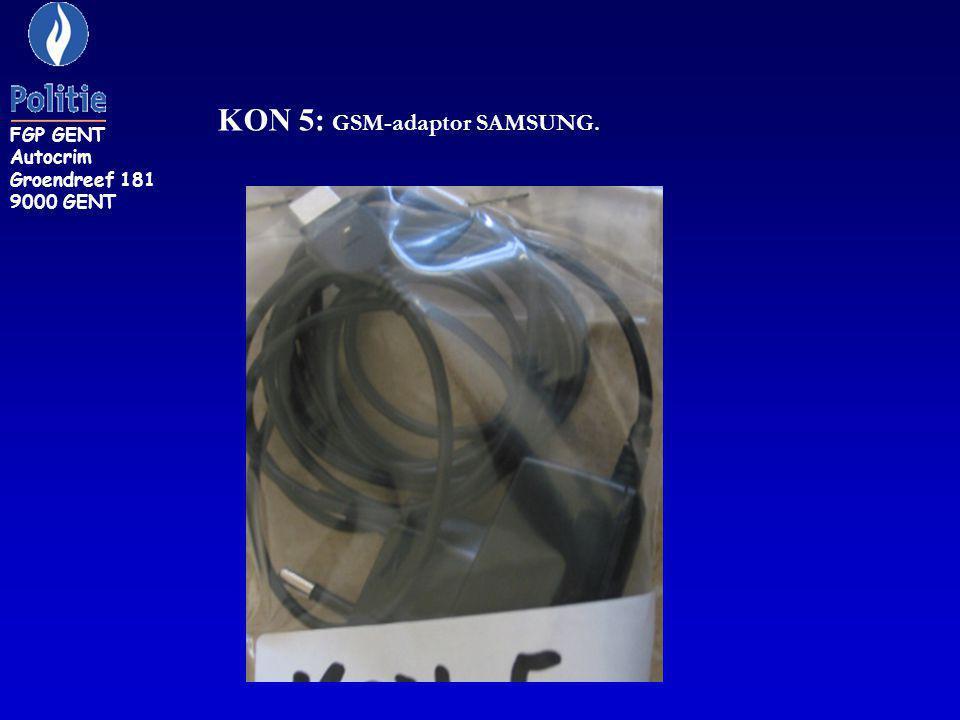KON 5: GSM-adaptor SAMSUNG.