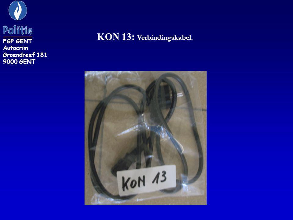 KON 13: Verbindingskabel.